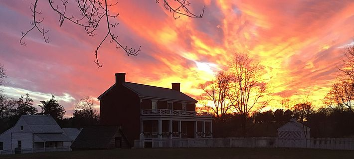 McLean House at Sunset, Appomattox Court House NHP