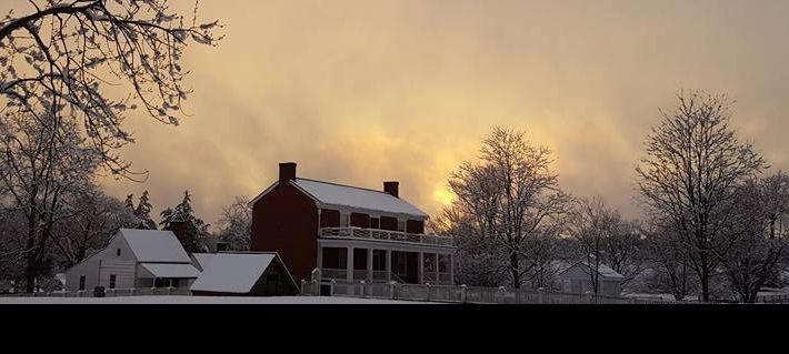 McLean House Winter Sunset