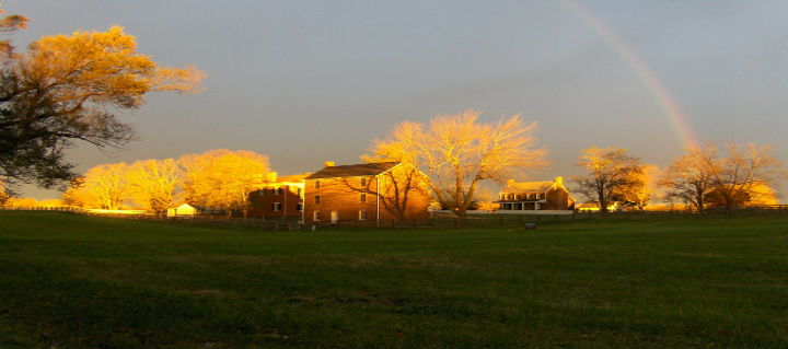 Rainbow over Appomattox Court House National Historical Park (photo courtesy of National Park Service)